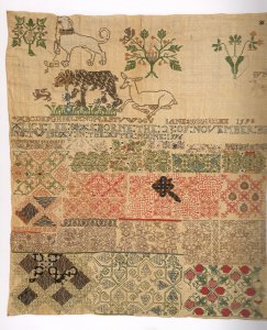 Jane Bostocks 1598 Sampler